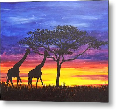 Serengeti Sunset Metal Print by Darren Robinson