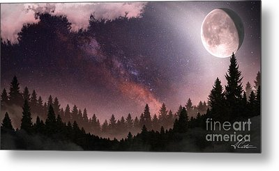 Metal Print featuring the digital art Serenity by Anthony Citro