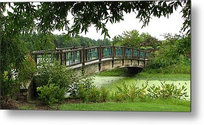 Metal Print featuring the photograph Serenity Bridge by David Dunham