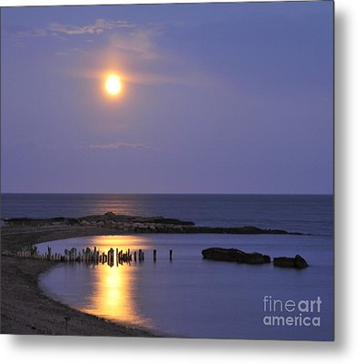 Metal Print featuring the photograph Serenity Connecticut Coastline by Cindy Lee Longhini