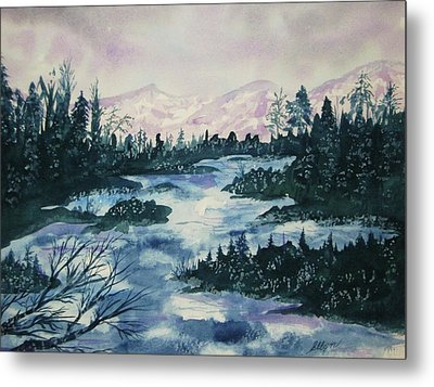 Metal Print featuring the painting Serenity IIi by Ellen Levinson