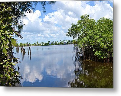 Metal Print featuring the photograph Serenity In Matlacha Florida by Timothy Lowry