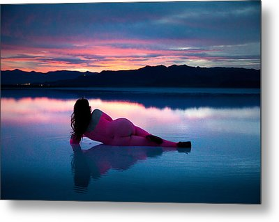 Metal Print featuring the photograph Serenity Lake by Dario Infini