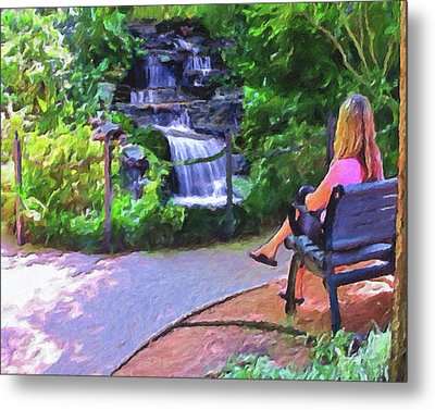 A Moment Of Serenity Metal Print by Le Artman