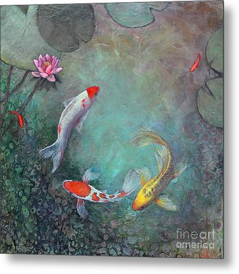 Serenity Pool Metal Print by Lori McNee