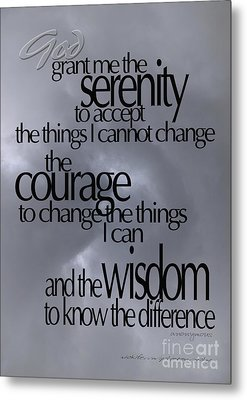 Serenity Prayer 05 Metal Print