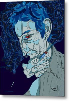 Serge Gainsbourg Metal Print by Suzanne Gee