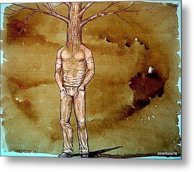 Series Trees Drought Metal Print by Paulo Zerbato