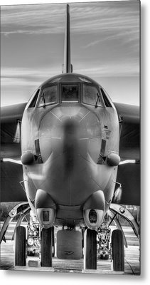Serious Business Black And White Metal Print by JC Findley