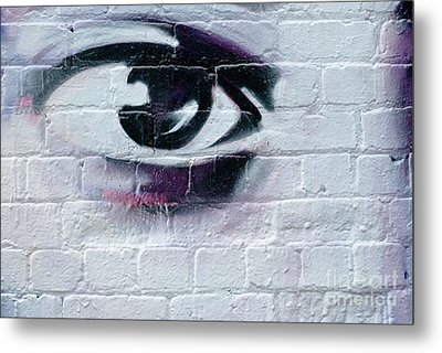 Metal Print featuring the painting Serious Graffiti Eye On The Wall by Yurix Sardinelly