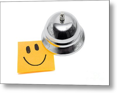 Service With A Smile On White Metal Print by Jorgo Photography - Wall Art Gallery