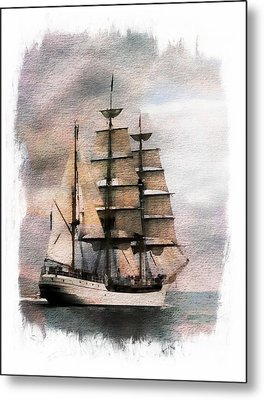 Metal Print featuring the painting Set Sail by Aaron Berg