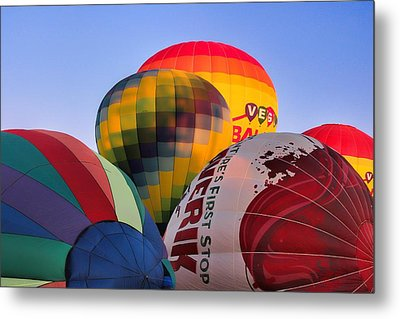 Set Up Metal Print by Tammy Espino