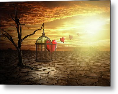 Metal Print featuring the digital art Set Your Self Free by Nathan Wright