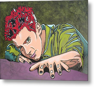 Seth Is Green Metal Print by Sarah Crumpler
