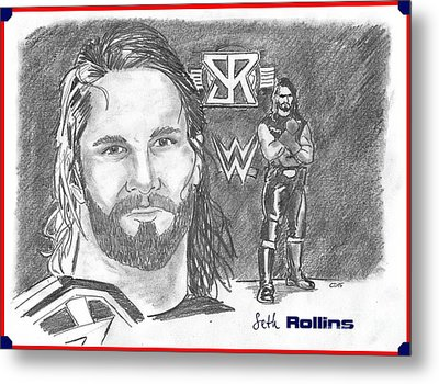 Seth Rollins Metal Print by Chris  DelVecchio