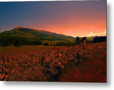 Setting Sun In Crested Butte Metal Print