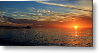 Setting Sun In Naples Metal Print