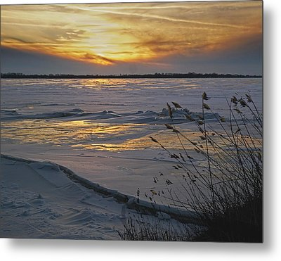 Setting Sun Metal Print by Judy Johnson