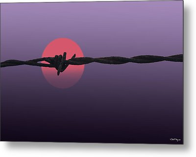 Metal Print featuring the photograph Setting Sun by Skip Tribby