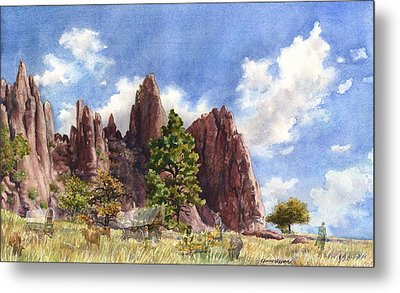 Metal Print featuring the painting Settler's Park, Boulder, Colorado by Anne Gifford