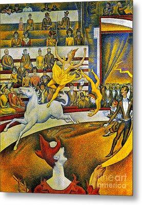 Seurat: Circus, 1891 Metal Print by Granger