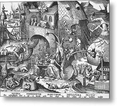 Seven Deadly Sins, 1558 Metal Print by Granger