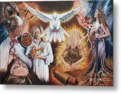 Seven-fold Spirit Of The Lord Metal Print