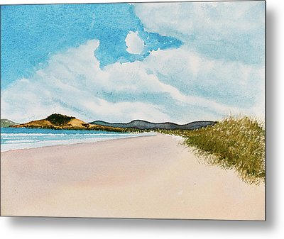 Seven Mile Beach On A Calm, Sunny Day Metal Print