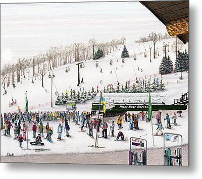 Seven Springs Stowe Slope Metal Print