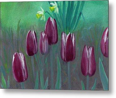 Seven Tulips Metal Print by Laurel Ellis