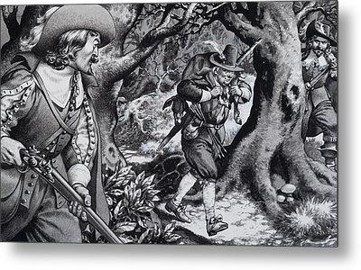 Seventeenth Century Poacher Metal Print