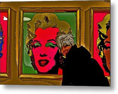 Severe Ordeals. Selfie With Marilyn Monroe. Metal Print by Andy Za