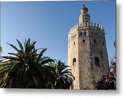 Seville - A View Of Torre Del Oro 2 Metal Print by Andrea Mazzocchetti