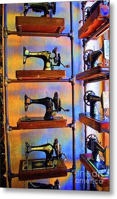 Sewing Machine Retirement Metal Print by Jost Houk