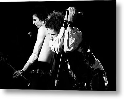Sex Pistols John And Sid 1978 Metal Print by Chris Walter