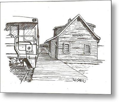 Sexsmith Train Station Metal Print by Rick Stoesz