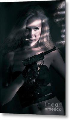 Sexy Woman Assassin Metal Print by Jorgo Photography - Wall Art Gallery