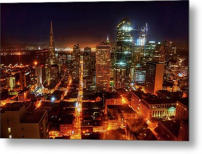 Metal Print featuring the photograph Sf Gotham City by Peter Thoeny