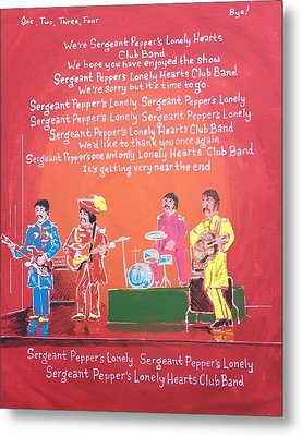 Sgt. Pepper's Lonely Hearts Club Band Reprise Metal Print by Jonathan Morrill