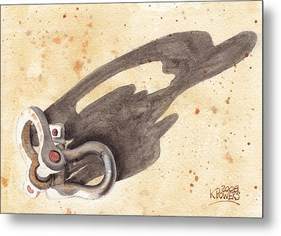 Shackles With Five O Clock Shadow Metal Print by Ken Powers