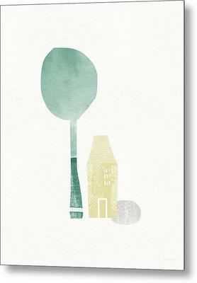 Shade Tree- Art By Linda Woods Metal Print by Linda Woods
