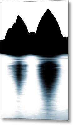 Shaded Peaks  Metal Print