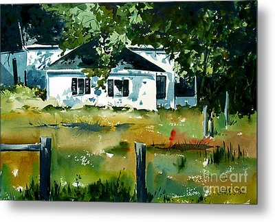 Metal Print featuring the painting Shaded Porch by Charlie Spear