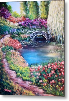 Shades Of Giverny Metal Print