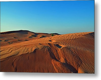 Shades Of Sand Metal Print by Corinne Rhode