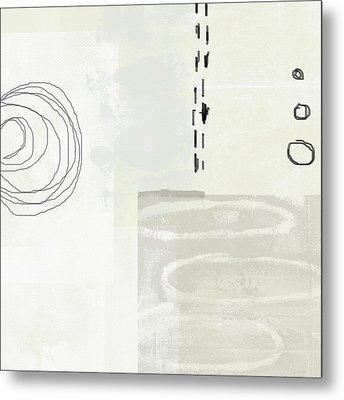Shades Of White 4- Art By Linda Woods Metal Print by Linda Woods