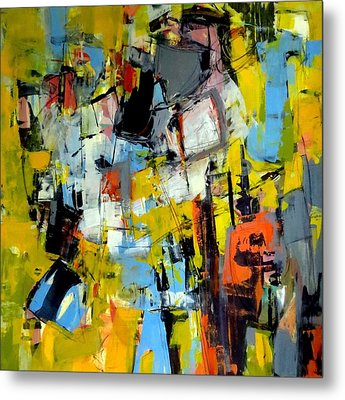 Metal Print featuring the painting Shades Of Yellow by Katie Black