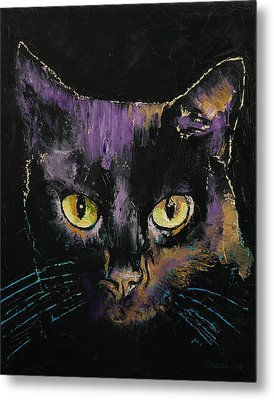 Shadow Cat Metal Print by Michael Creese