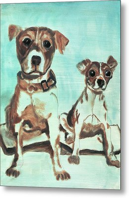Shadow Dogs Metal Print by Terry Lewey